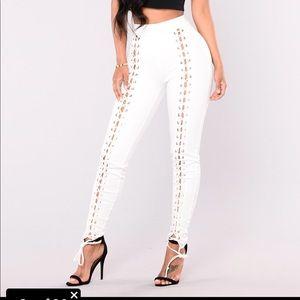 Lace up pants